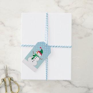 Stocking Cap Snowman Gift Tag