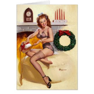 Stocking Stuffer Pin Up Greeting Card