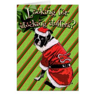 Stocking Stuffer Surprise Greeting Card