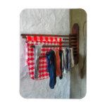 Stockings Hanging to Dry Vinyl Magnet