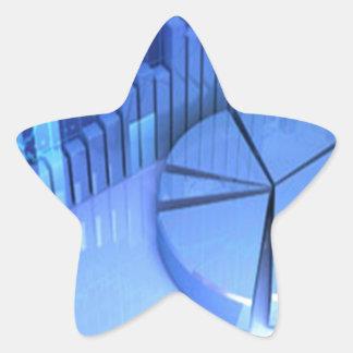 StockMarketChart Star Sticker