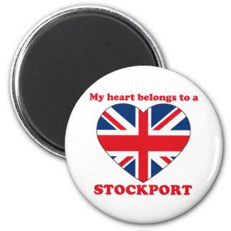 Stockport 6 Cm Round Magnet