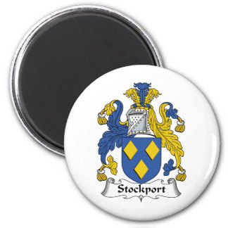 Stockport Family Crest 6 Cm Round Magnet