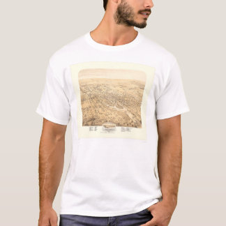 Stockton, CA Panoramic Map 1870 (1667A) - Restored T-Shirt