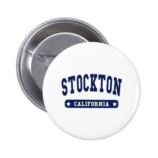 Stockton California College Style tee shirts Pins