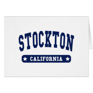 Stockton California College Style tee shirts Greeting Card