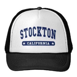 Stockton California College Style tee shirts Mesh Hats