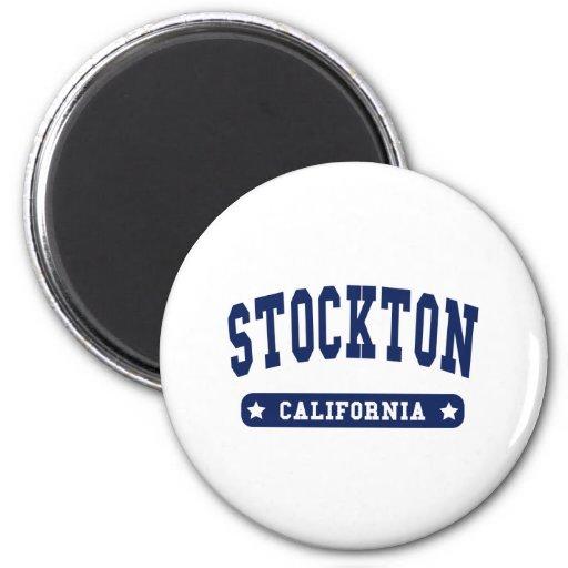 Stockton California College Style tee shirts Fridge Magnet