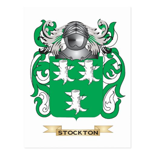 Stockton Coat of Arms (Family Crest) Post Card