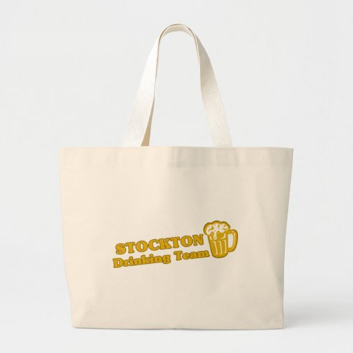 Stockton Drinking Team tee shirts Canvas Bags