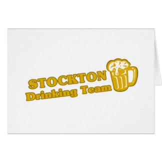 Stockton Drinking Team tee shirts Greeting Cards