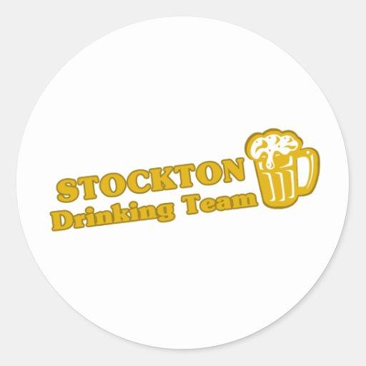 Stockton Drinking Team tee shirts Round Stickers