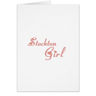 Stockton Girl tee shirts Greeting Cards
