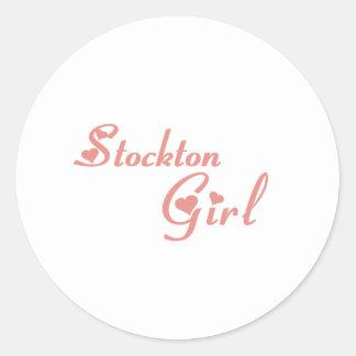 Stockton Girl tee shirts Round Stickers