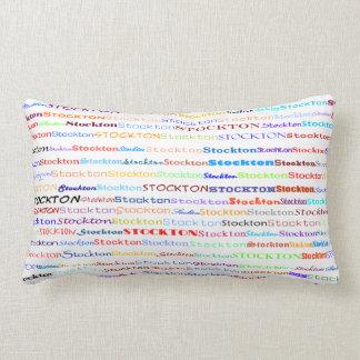 Stockton Text Design II Lumbar Pillow Throw Cushion