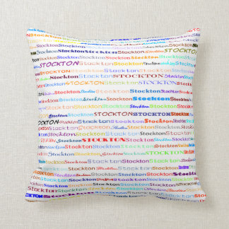 Stockton Text Design II Throw Pillow Cushions