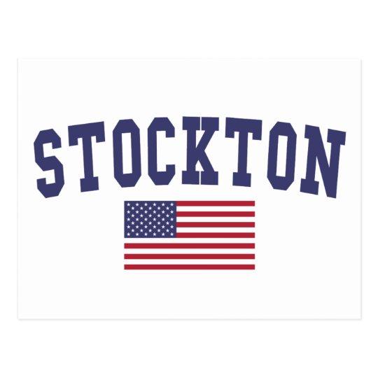 Stockton US Flag Postcard