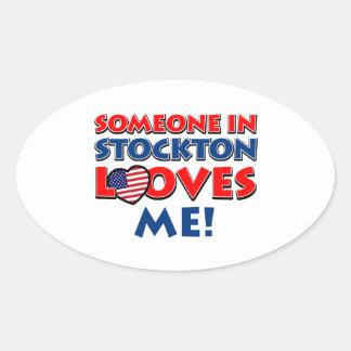STOCKTON USA designs Oval Sticker