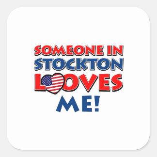 STOCKTON USA designs Square Sticker