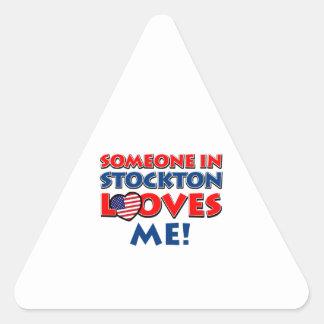 STOCKTON USA designs Triangle Sticker
