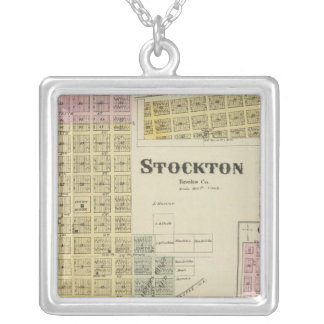 Stockton, Woodston, Rock Port, Clayton, Kansas Silver Plated Necklace