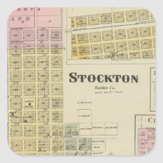Stockton, Woodston, Rock Port, Clayton, Kansas Square Sticker