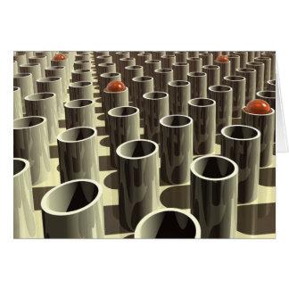 Stockyard of Cylinders Greeting Card