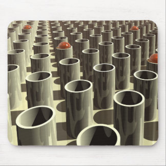 Stockyard of Cylinders Mouse Pad
