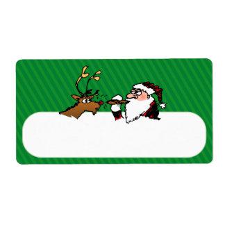 Stogie Lighting Santa Shipping Label