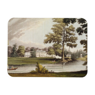 Stoke Place, from Ackermann's 'Repository of Arts' Rectangular Photo Magnet