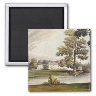 Stoke Place, from Ackermann's 'Repository of Arts' Square Magnet