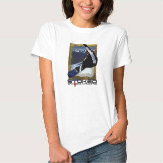 Stoked snowboarding tshirts