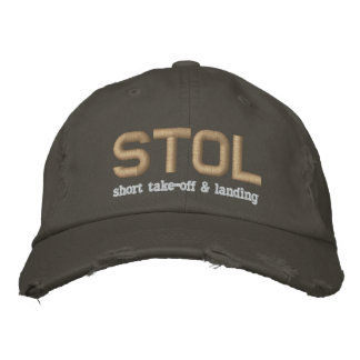 STOL Short Take-Off & Landing Embroidered Baseball Cap