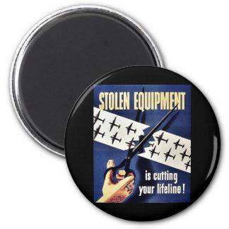 Stolen Equipment Refrigerator Magnets