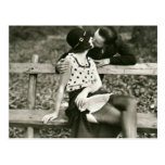 Stolen Kiss French Postcard