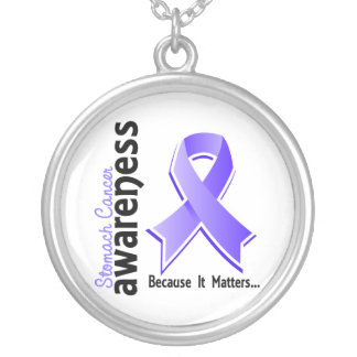 Stomach Cancer Awareness 5 Round Pendant Necklace
