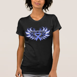 Stomach Cancer Awareness Heart Wings png Tshirts