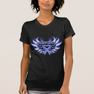 Stomach Cancer Awareness Heart Wings png Tees