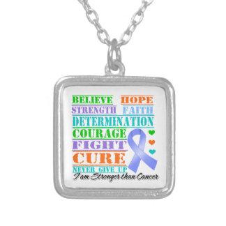 Stomach Cancer Believe Strength Determination Custom Necklace