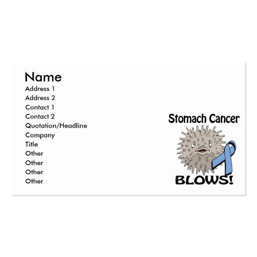 Stomach Cancer Blows Awareness Design Business Card Template