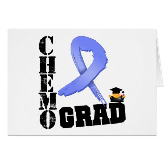 Stomach Cancer Chemo Grad Greeting Card