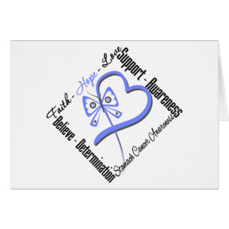 Stomach Cancer Faith Hope Love Butterfly Cards
