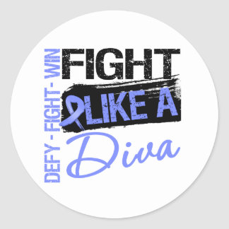 Stomach Cancer - Fight Like a Diva Stickers