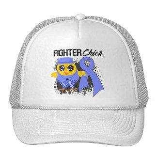Stomach Cancer Fighter Chick Grunge Trucker Hats