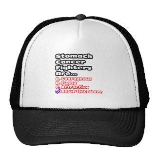 Stomach Cancer Fighter Quiz Mesh Hats