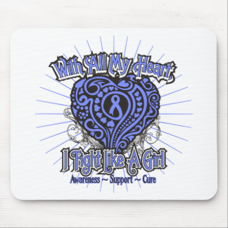 Stomach Cancer Heart I Fight Like A Girl Mousepads