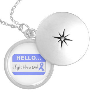 Stomach Cancer I Fight Like a Girl Pendant