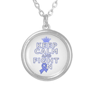 Stomach Cancer Keep Calm Fight On Necklace