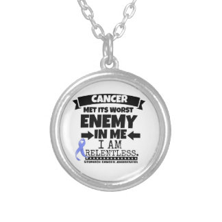 Stomach Cancer Met Its Worst Enemy in Me Round Pendant Necklace