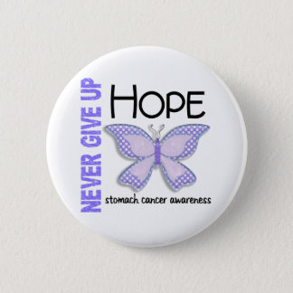 Stomach Cancer Never Give Up Hope Butterfly 4.1 6 Cm Round Badge